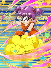 Dokkan Battle Flying High in the Clouds Arale Norimaki Goku Cosplay card
