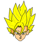 Super vegito line drawing 2 by waelalz-d3frx90