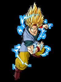 Goku Jr Adult Super Saiyan 2 by SpongeBoss