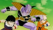 Crilin, Son Gohan e Son Goku (nel corpo di Ginew)
