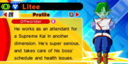 DB Fusions Attendant Supreme Kai Litee (Character Profile)