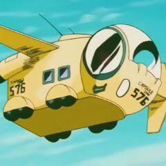 L'aereo della Capsule Corporation di Bulma nella saga di Majin Bu.