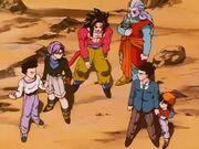 Goku SS4, Gohan, Goten e Trunks