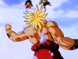 Son Goten, Trunks y Videl vs. Broly Supersaiyano