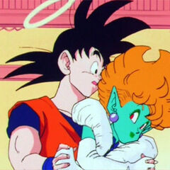La Principessa tenta di sedurre Son Goku.