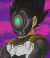 Saiyan enmascarado que tiene un sospechoso parecido a Vegeta