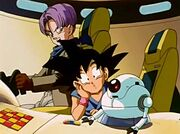 Gil con Goku e Trunks