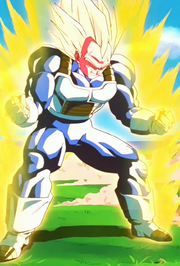 Vegeta si trasforma in Ascendent Super Sayan