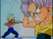 Vegeta y Trunks entrenando