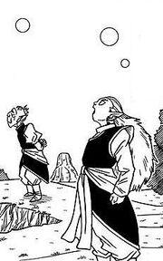 Dragon ball super manga cap 1 - kaiohshin il sommo e kibitoshin osservano beerus e whis dal loro pianeta