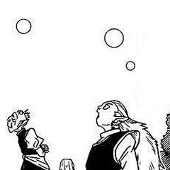 Kaiohshin il Sommo e Kibitoshin osservano le azioni del Divino Beerus.
