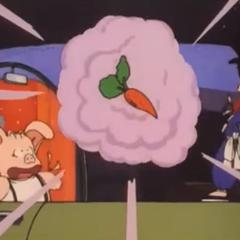 Toninjinka trasforma Bulma in carota (anime).