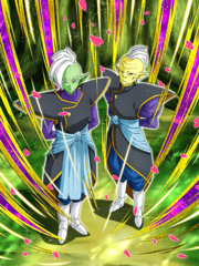Dokkan Battle A Lesson of Good and Evil Gowasu & Zamasu card (Supreme Kai of Universe 10 Gowasu & Zamasu UR)