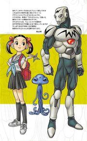 Diseño de Sachie-Chan, marciano y Jiya