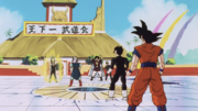 Gohan and the others transported to the tournament arena