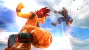 Goku SSJD ataca a Bills