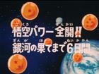 Goku in azione Title-Card JP