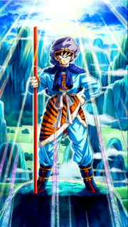 Dokkan Battle Courage to the Max! Goku card (Journey to the West Costume - Son Goku with Dragon Ball style Power Pole LR)