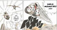 Goku volando