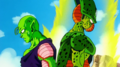 Piccolo frozen by Cell's Power