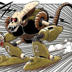 Il Robot Pirata nelle illustrazioni a colori.