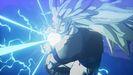 SS3 Goku preparing to fire Kamehameha in DBZ Kakarot