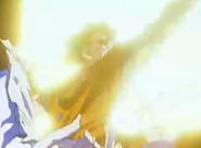 Goku perforando a God Guardon