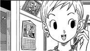 Tights hablando con Bulma manga