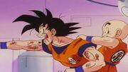 Goku dopo aver visto una siringa