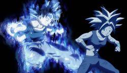 Goku sorprende a Kefla por la espalda