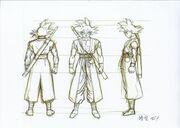 Goku Xeno Boceto