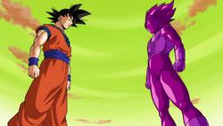 Goku vs veggie fake
