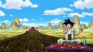 Goku almorzando