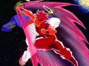 Goku colpisce Pai ku Han