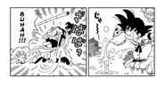 Goku pours hot water down the pipe Ninja Murasaki was breathing through