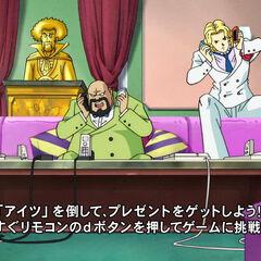 Piroshiki assieme a Caroni e Miss Piiza in Dragon Ball Super.