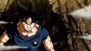 Son Goku in difficoltà