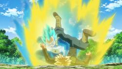 Vegeta Trunks is training