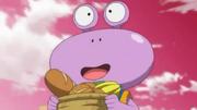 Berry brings food to Bardock