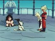 Karin con los dos ssj