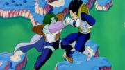 Zarbon and Vegeta collide