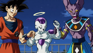 Goku,Frieza and Beerus