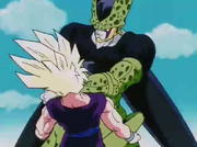 Cell colpisce Gohan