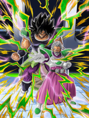 Dokkan Battle Troublesome and Son Paragus & Broly card