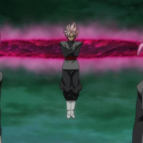 I cloni di Black Goku trasformati in Super Saiyan Rosè