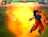 Goku siendo atacado en BT3