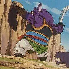 Lord Yao con il braccio trasformato in radice in Goku Gaiden.