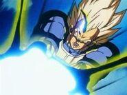 Ataque de Energía Saiyan -Super Vegeta disparando