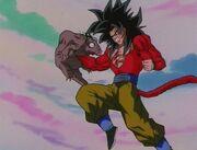 Goku attacca Chi Shenron