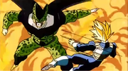 Cell colpisce Vegeta